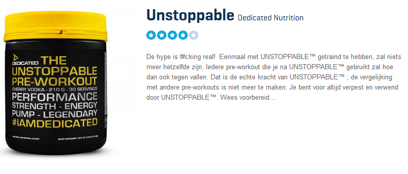 Unstoppable Pre Workout Review